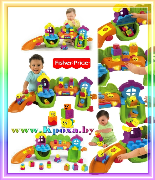 Fisher Price Stack n Surprise Blocks Songs n Smiles Sillytown