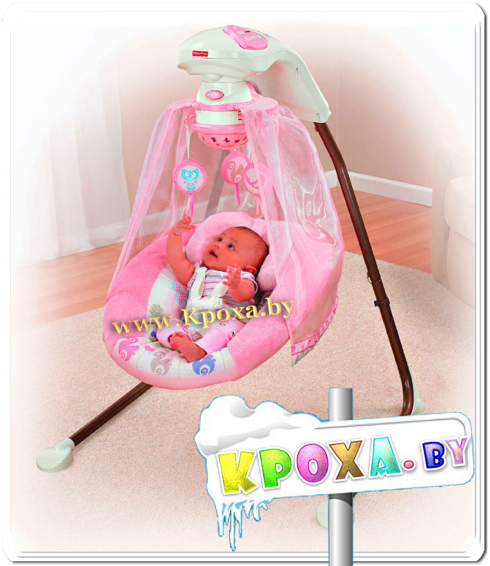 """Розовое дерево"" от Fisher Price Tree Party Pink Baby Swing NEW"