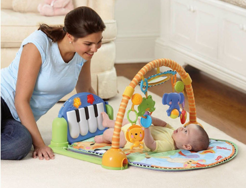 Развивающий коврик Fisher-Price пианино Kick and Play Piano Gym